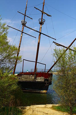 Photograph - Canadian Rusted Shipwreck by Rexford L Powell