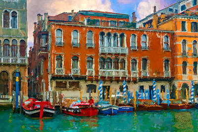 Art Print featuring the photograph Canal Grande. Venezia by Juan Carlos Ferro Duque