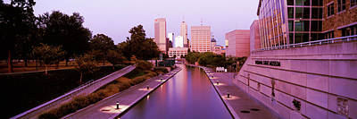 Canal Walk Photograph - Canal In A City, Indianapolis Canal by Panoramic Images