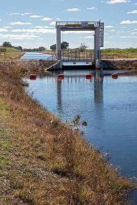 Floods Photograph - Canal Sluice Gate by Jim West