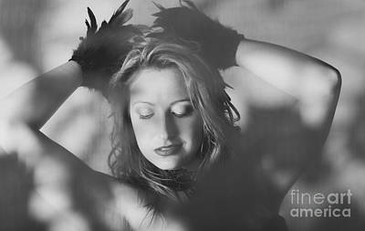 Photograph - Candid Beautiful Woman In Vintage Feather Fashion by Jorgo Photography - Wall Art Gallery