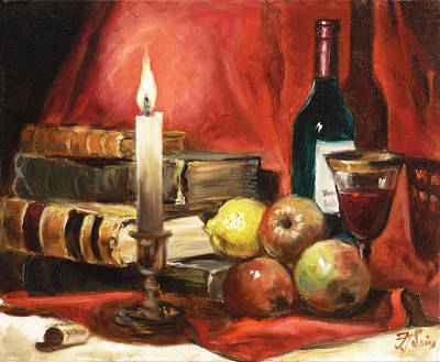 Apple Painting - Candlelight by Irek Szelag