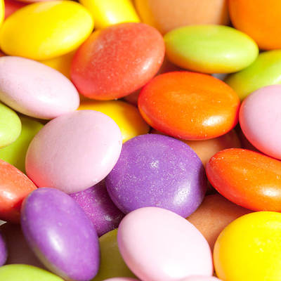 Additive Photograph - Candy Background by Tom Gowanlock