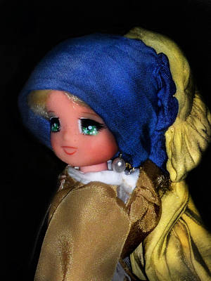 Candy Candy Doll Photograph - Candy Candy Girl With A Pearl Earring by Donatella Muggianu