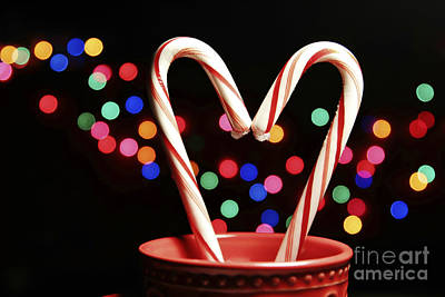 Photograph - Candy Cane Heart by Karin Pinkham