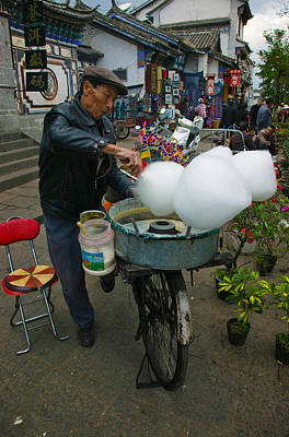 Food Stores Photograph - Candy Floss Vendor Selling Cotton by Panoramic Images
