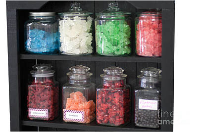 Photograph - Candy In Container On Store Shelf by Gunter Nezhoda