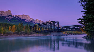 Canmore Engine Bridge On Bow River Art Print