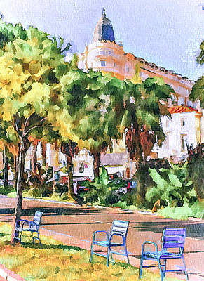 Cannes Carlton Hotel Art Print