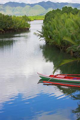 Canoe On The River, Bohol Island Art Print