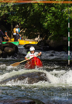 Photograph - Canoe Slalom Race by Les Palenik