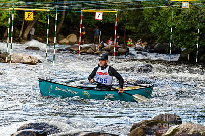 Photograph - Canoe Whitewater Slalom  by Les Palenik
