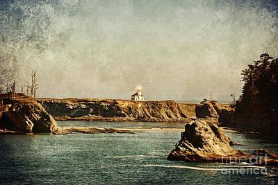 Cape Arago Lighthouse - Texture Art Print