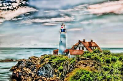 Lighthouse Photograph - Cape Elizabeth by Arnie Goldstein