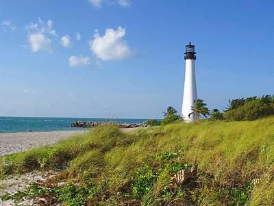 Photograph - Cape Florida Lighthouse by Ellen Henneke