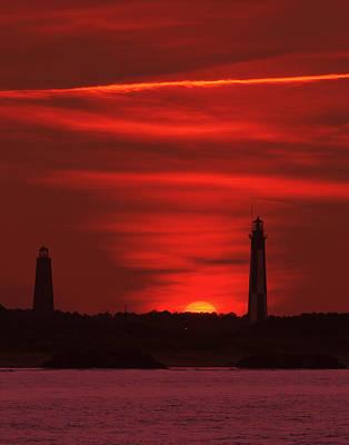 Cape Henry Lighthouses  Art Print