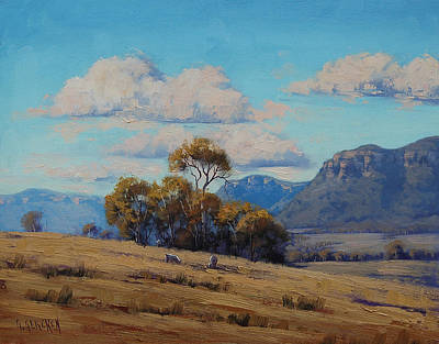 Shed Painting - Capertee Valley Australia by Graham Gercken