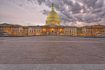Art Print featuring the photograph Capitol Building by Peter Lakomy
