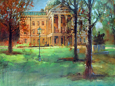Capitol Building Painting - Capitol Gold 2 by Dan Nelson