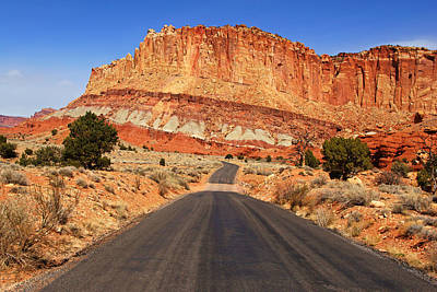 Photograph - Capitol Reef Road Vi by Daniel Woodrum