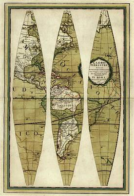 Cassini Photograph - Captain Cook's Voyages by Library Of Congress, Geography And Map Division