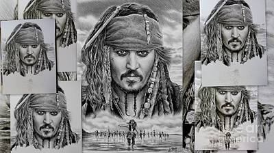 Movie Art Drawing - Captain Jack Sparrow by Andrew Read