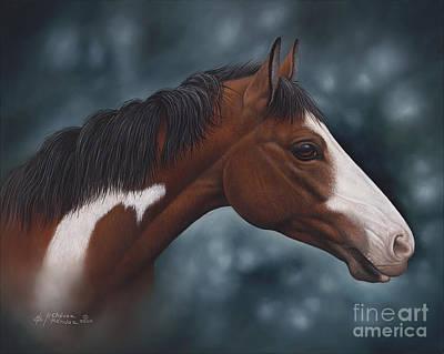 Quarter Horse Painting - Cara Blanca by Ricardo Chavez-Mendez