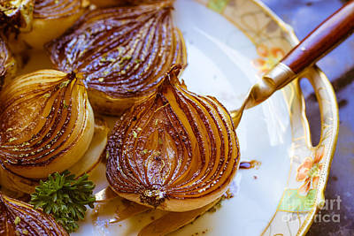 Caramelized Balsamic Onions Art Print by Edward Fielding