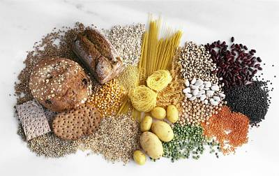 Carbohydrate-containing Foods Art Print