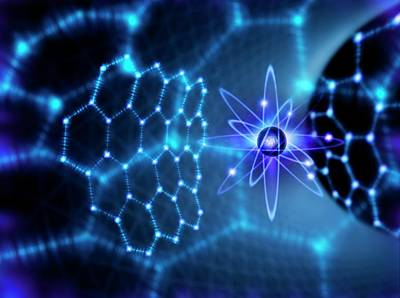 Atom Photograph - Carbon Atom And Graphene by Richard Kail