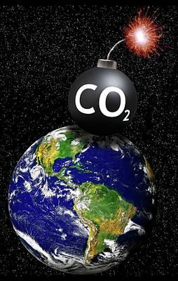 Carbon Dioxide Photograph - Carbon Dioxide Bomb by Victor De Schwanberg