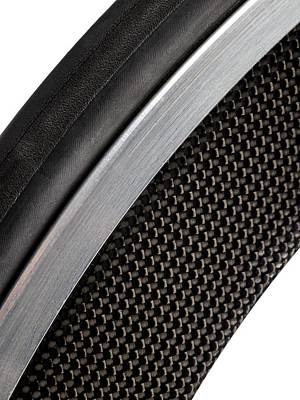 Component Photograph - Carbon Fibre Bicycle Wheel by Science Photo Library