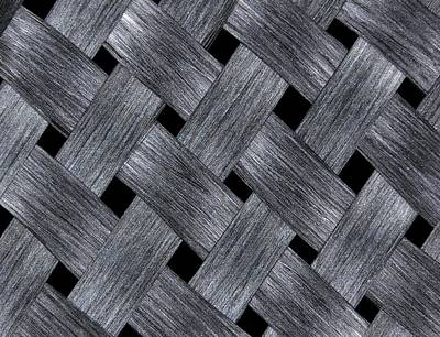 Graphite Photograph - Carbon Fibre Fabric by Alfred Pasieka