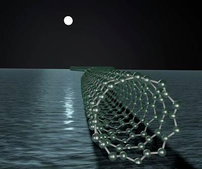 Carbon Nanotube Art Print by Robert Brook