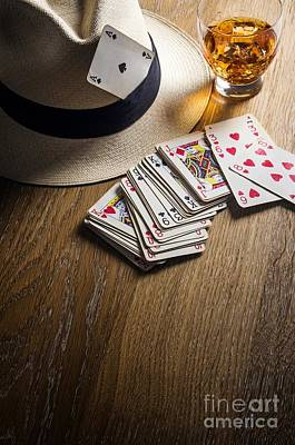 Thieves Photograph - Card Gambling by Carlos Caetano