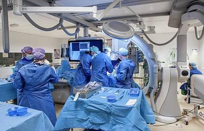 Heart Disease Photograph - Cardiac Catheterization by Arno Massee