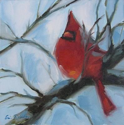 Cardinal Composed Art Print