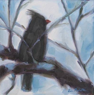 Painting - Cardinal Reposed by Erin Rickelton