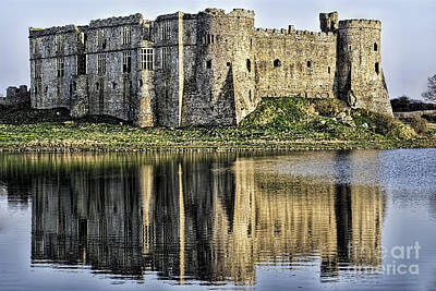 Photograph - Carew Castle Reflections by Steve Purnell