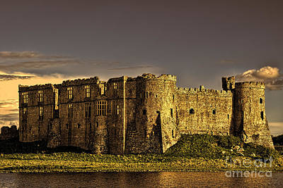 Photograph - Carew Castle Sunset 2 by Steve Purnell