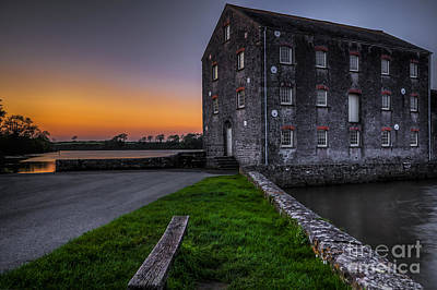 Photograph - Carew Tidal Mill At Sunset by Steve Purnell