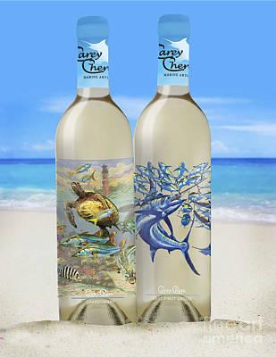 Smirnoff Glass Art - Carey Chen Fine Art Wines by Carey Chen