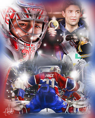 Montreal Canadiens Painting - Carey Price by Mike Oulton