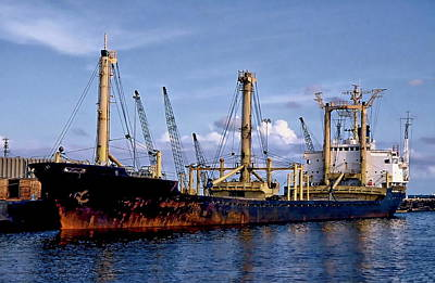 Photograph - Cargo Ship by Anthony Dezenzio