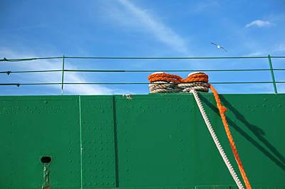 Cargo Ship Mooring Line Art Print