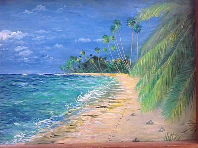 Caribbean Landscape Art Print by Egidio Graziani