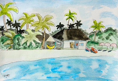 Caribbean Sea Painting - Caribbean Scenery by Pati Photography