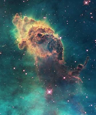 Star Formation Photograph - Carina Nebula Pillar by Nasa/esa/stsci/hubble Sm4 Ero Team
