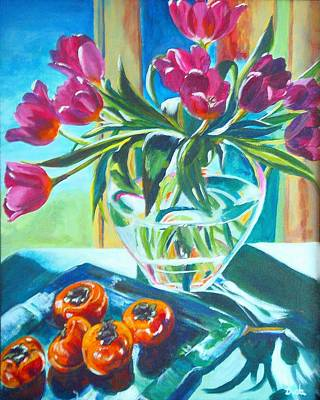 Floral Guest Room Painting - Carins Tulips by Susan Duda