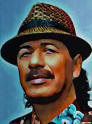 Carlos Santana Art Print by  Fli Art